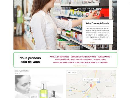 Création du site interne de la Pharmacie Selvais à Bastogne