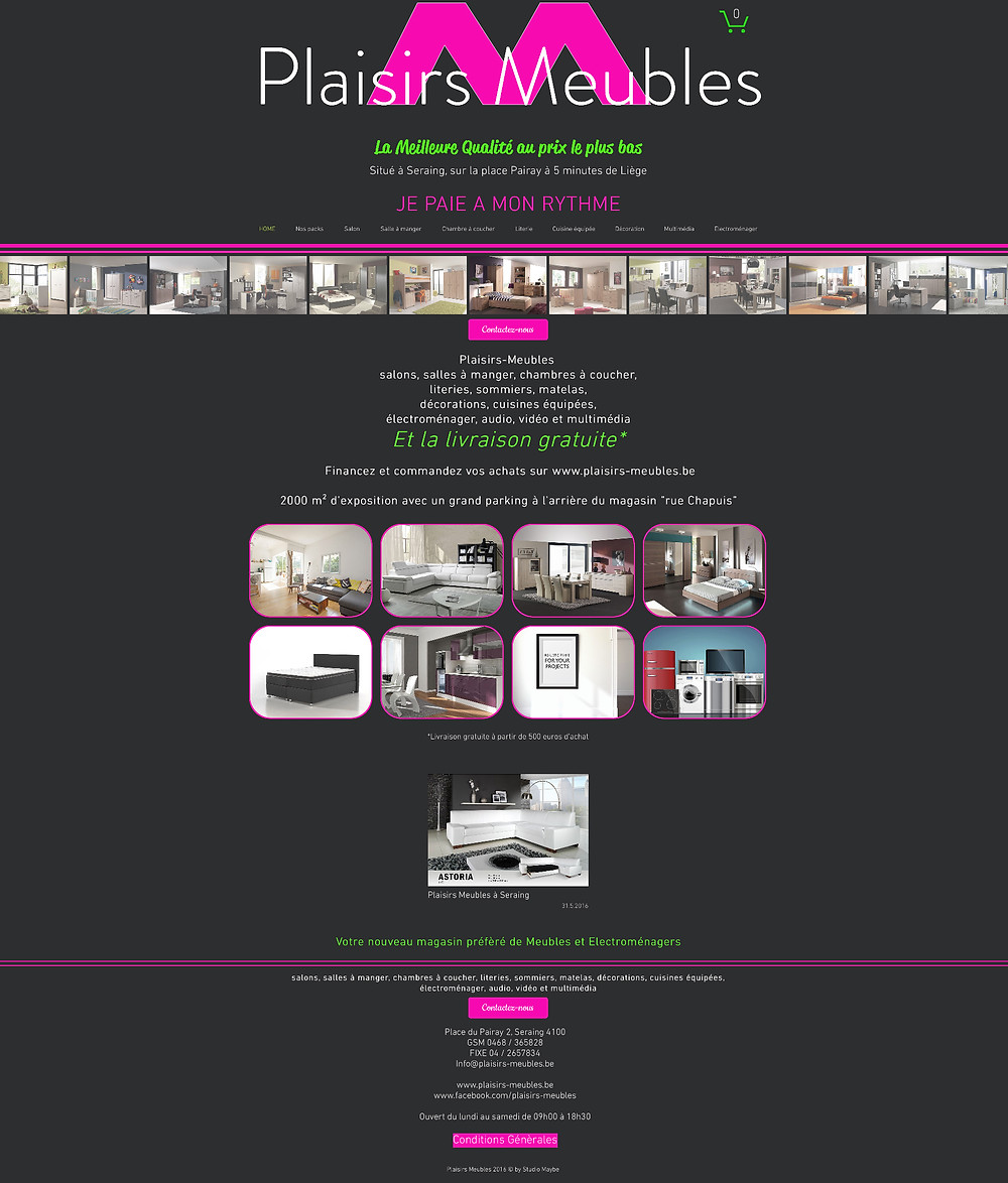Création de site internet by Studio Maybe
