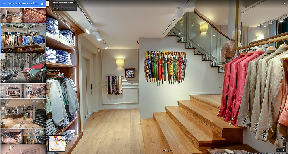 Visite virtuelle google street view Boutique De Greef Dinant by Studio Maybe