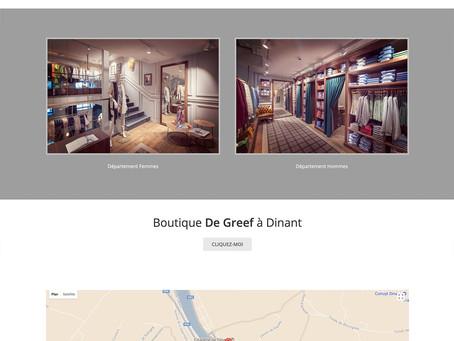 Création du site de la Boutique De Greef Dinant