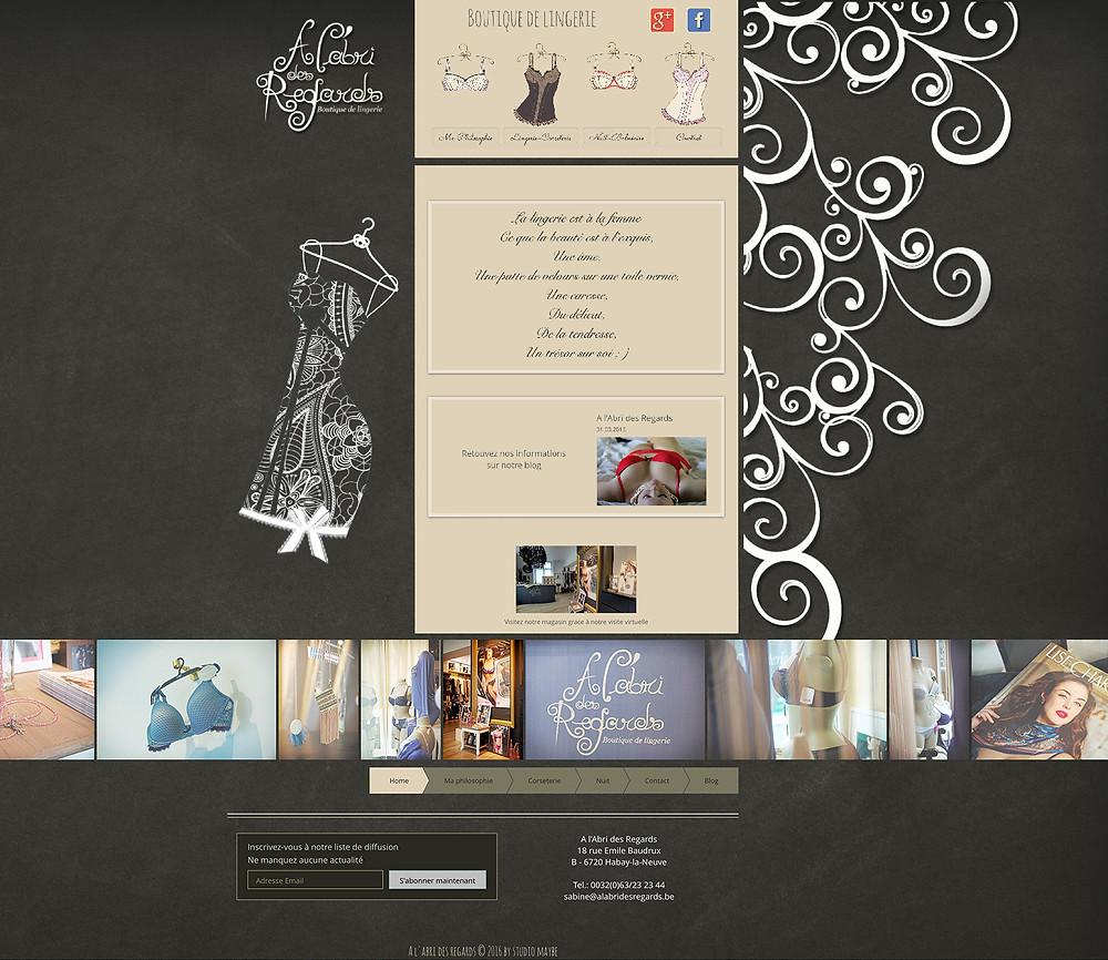 Création du site internet A l'abri des regards by Studio Maybe