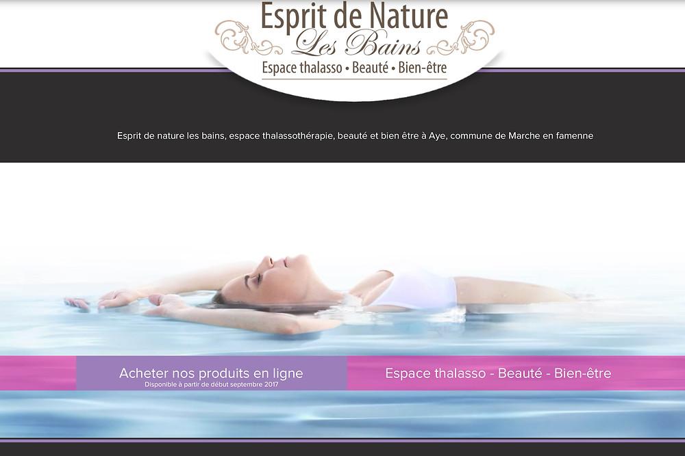 site Esprit de Nature les Bains - Marche-en-Famenne - by StudioMaybe