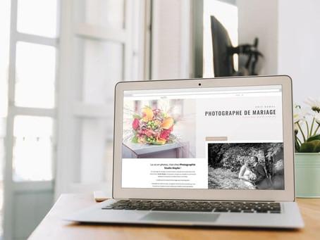 Création du site internet Mon Reportage de Mariage by Studio Maybe