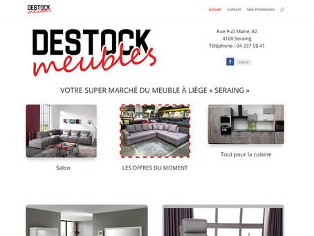 Création du site Destock Meubles à Seraing
