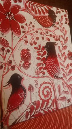 Vandut. Red birds