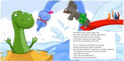 Pool fun - digital illustration