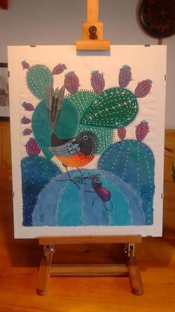 Vandut. Bird and one big bug