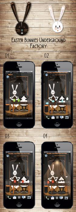 Rabbits screen saver