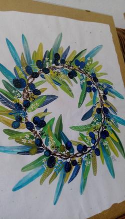 Vandut. Floral frame - Maslin