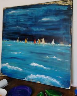 Vandut. Summer boats