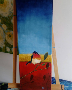 Tricolor bird. Available