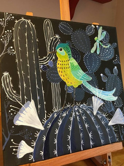 Vandut. Colorful birdy
