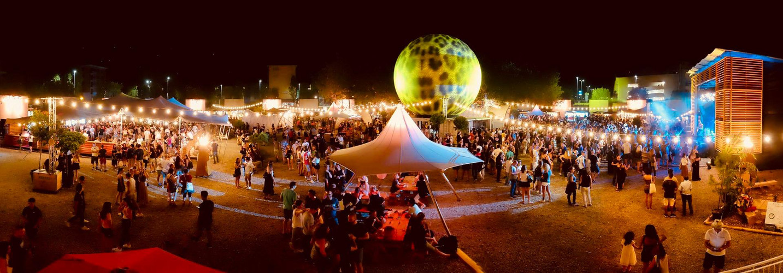 Riesenhut-Tipi vermietet am Filmfestival in Locarno