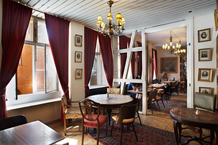 Paludan Bog & cafe dans le quartier latin de Copenhague.