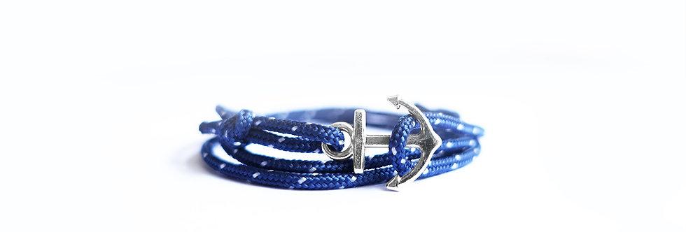 Mini Blue Polka Rope Mini Anchor Bracelet