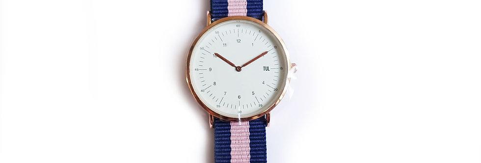 Classic IWEARTUL White Face Pink Strap Watch