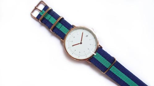classic iweartul black face green strap watch