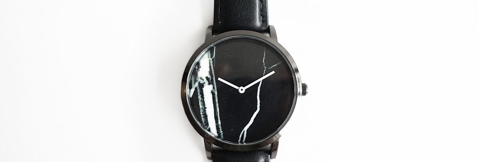 Black Marble Minimalist Watch