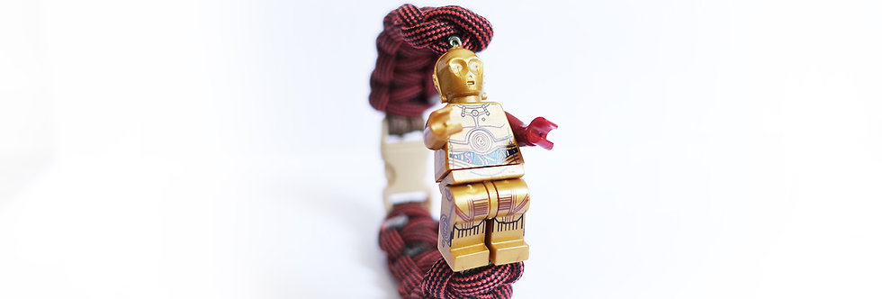 Star Wars C-3PO Brick Figurine Braided Bracelet