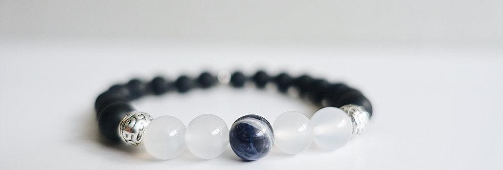 Oasis Onyx Beaded Gemstone Bracelet