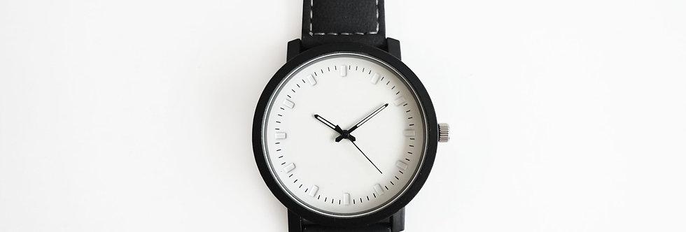 Mens Minimalist White Face Watch