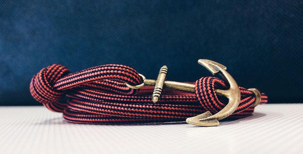 Falu Red Black Rope Brass Fish Hook
