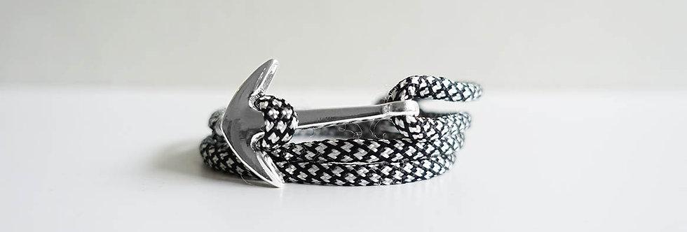 Roshe Rope Silver Anchor Bracelet