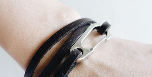 Dark Brown Leather Hook Bracelet