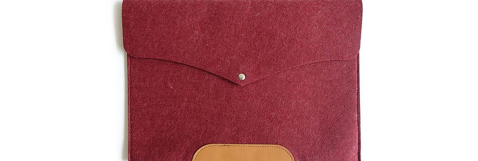 Crimson Red Industrial Felt Oxford Laptop Holder