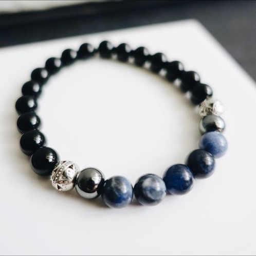 beads bracelets jewelry from onyx accessories black in item silver bracelet buddha woman for wholesale tibetan charm men