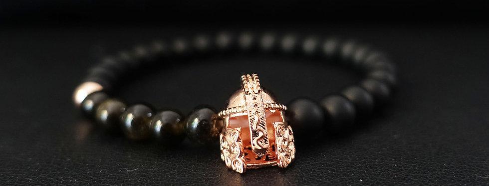 Rose Gold Gladiator Beaded Bracelet