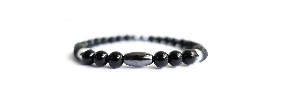 Vampire Black Hex Bead Bracelet