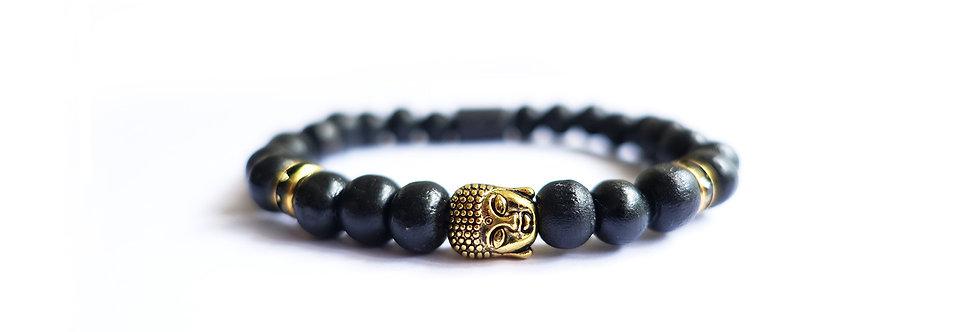 Black Wood Tranquility Bead Bracelet