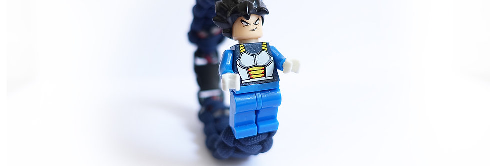 Vegeta Brick Figurine Braided Bracelet