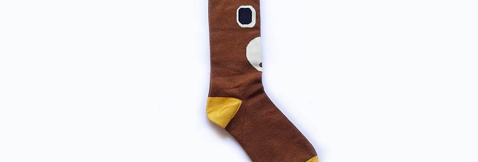 Daddy Bear Mid Length Socks