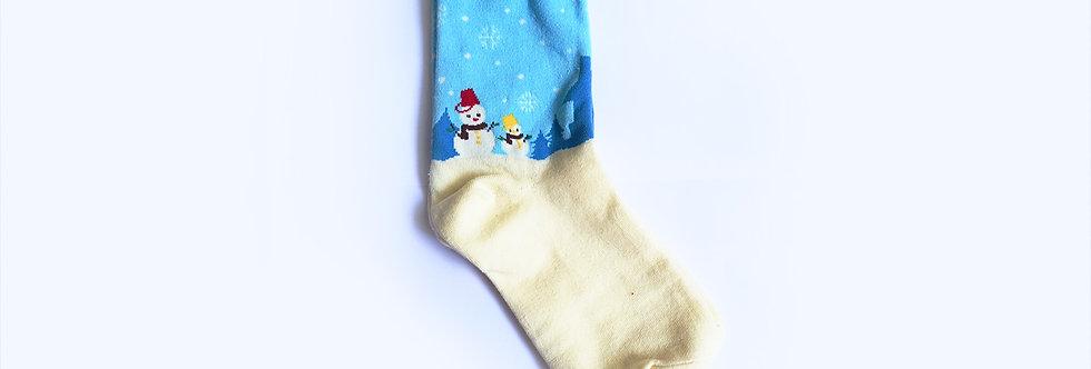 Christmas Snowman Socks