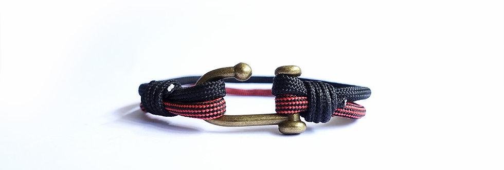 Smoky Black Falu Red Antique Brass Hook