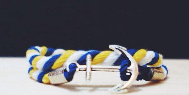 BYW Silver Anchor Bracelet