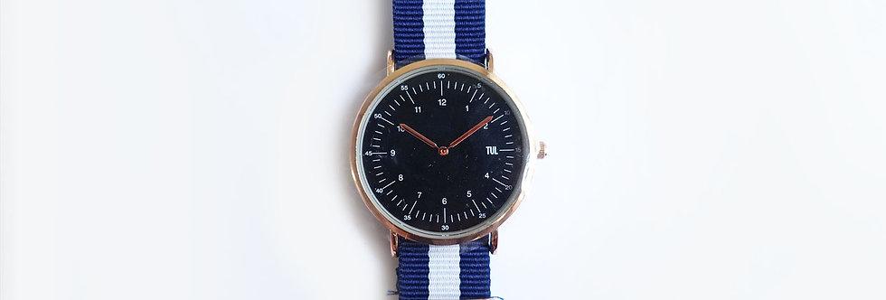 Classic IWEARTUL Black Face Blue Strap Watch