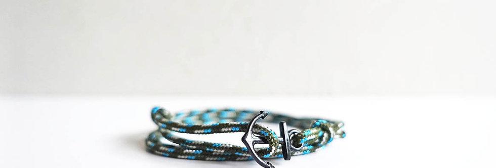 Aurora Rope Mini Black Anchor Bracelet