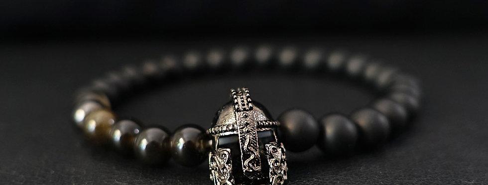 Titanium Gladiator Beaded Bracelet
