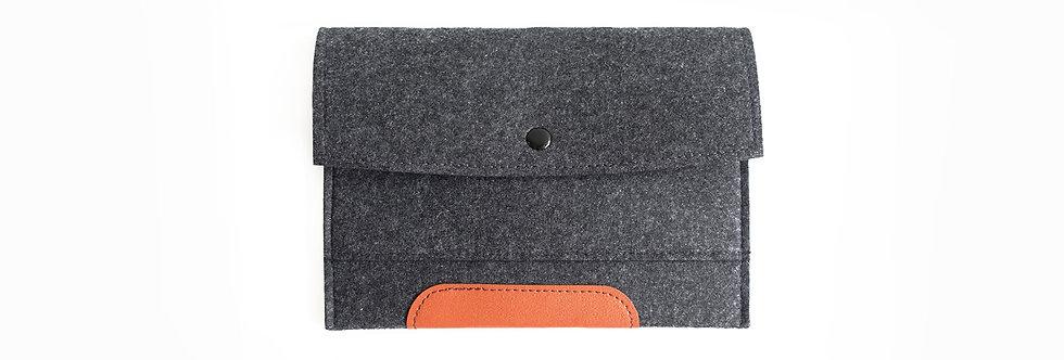 Dark Grey iPad Mini Felt Clutch