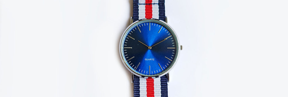 Abyss Blue Brushed Face Nautical Strap
