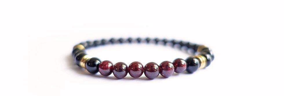Oxblood Majestic Bead Bracelet