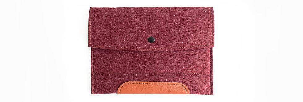 Crimson Red iPad Mini Felt Clutch