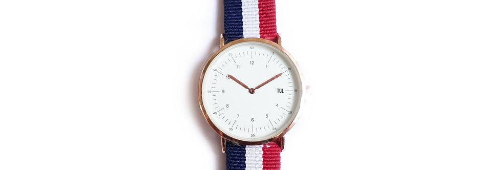 Classic IWEARTUL White Face Nautical Strap Watch