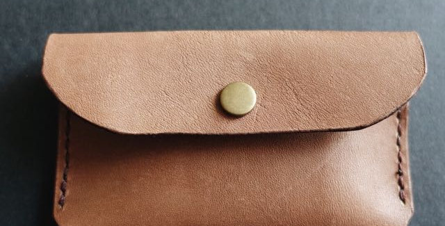Slim Brown Leather Cardholder