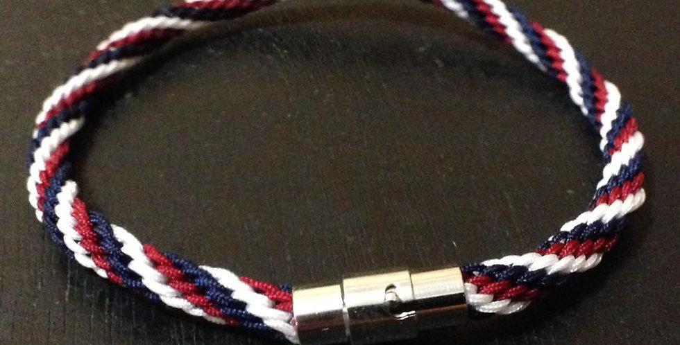 Kumihimo Nautical RBW Bracelet