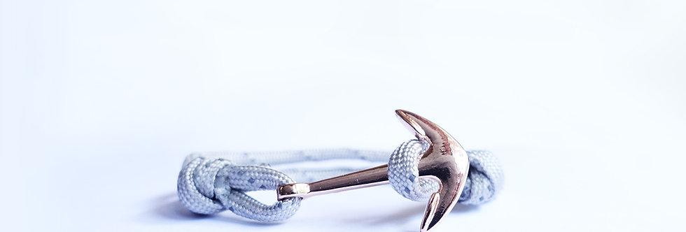 Gainsboro Grey XX Rose Gold Anchor Bracelet