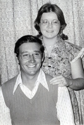 Roger Atkison with his wife, Marcella Shat